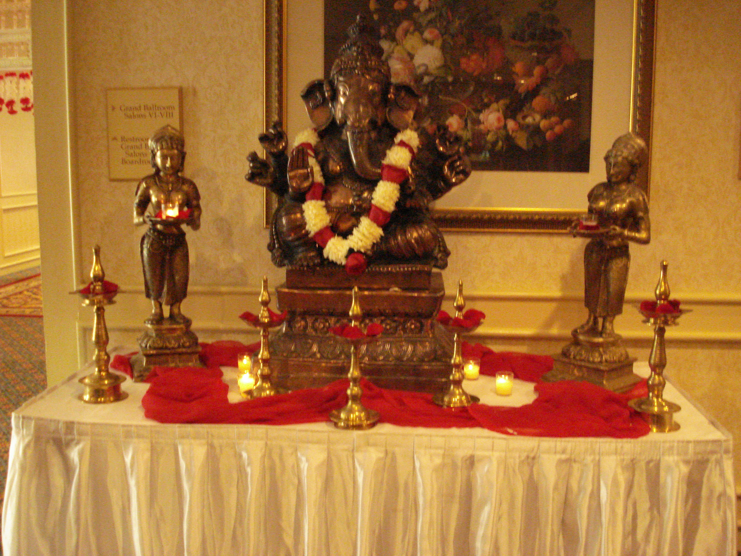 The Ganesha welcoming guests