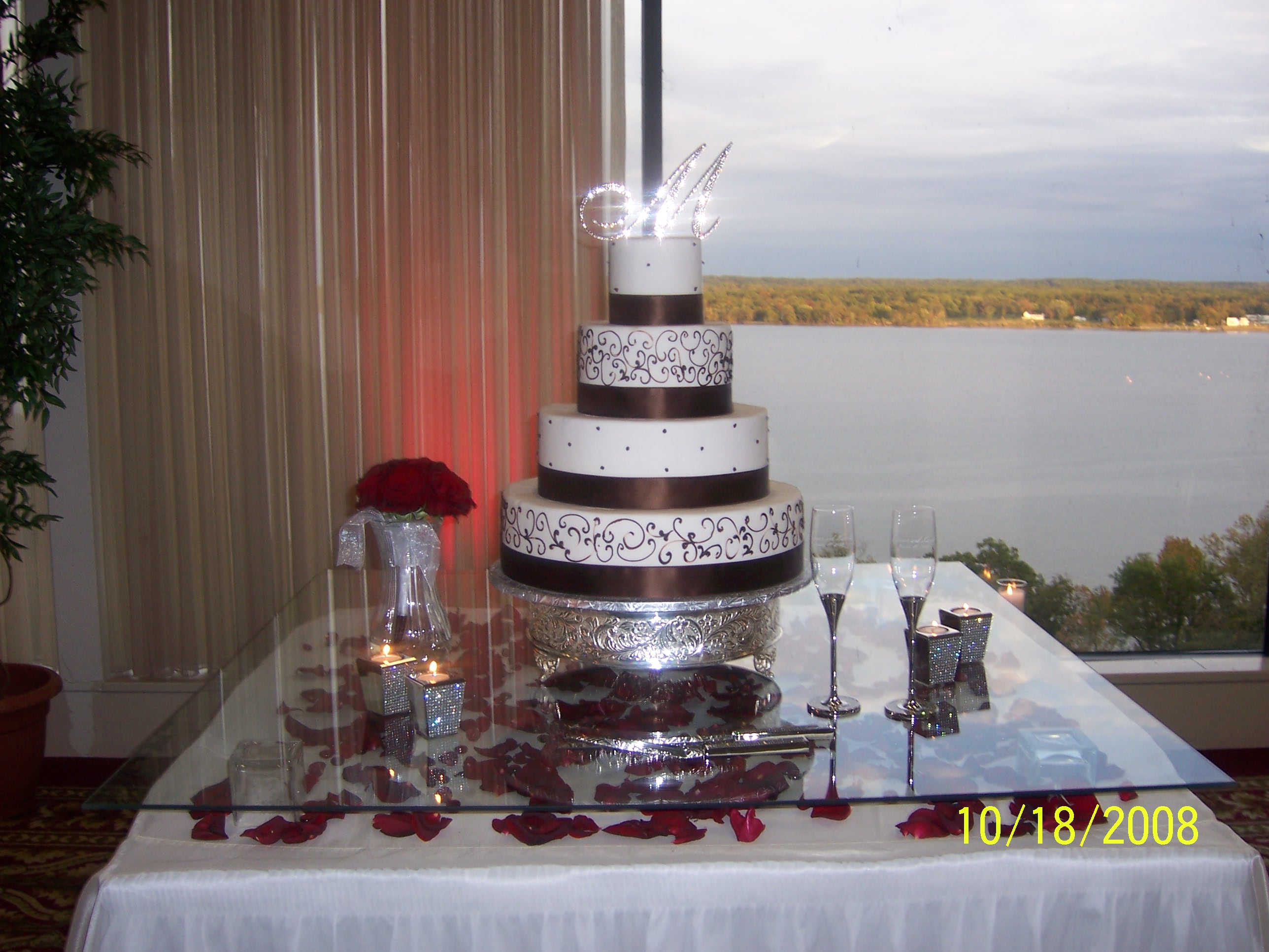 Cake table at Ft. Belvoir Officers Club