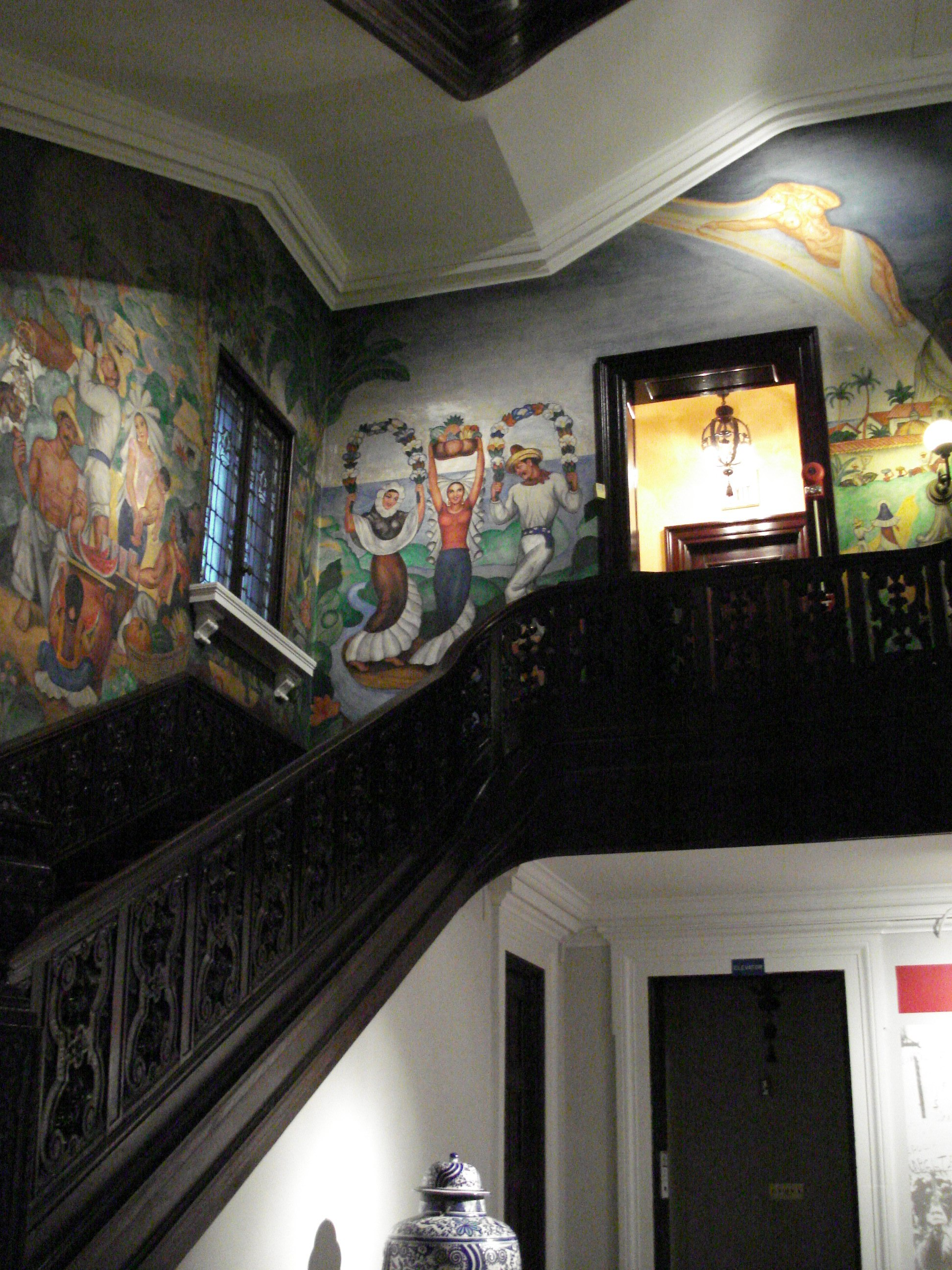 Amazing murals all along the stairwell