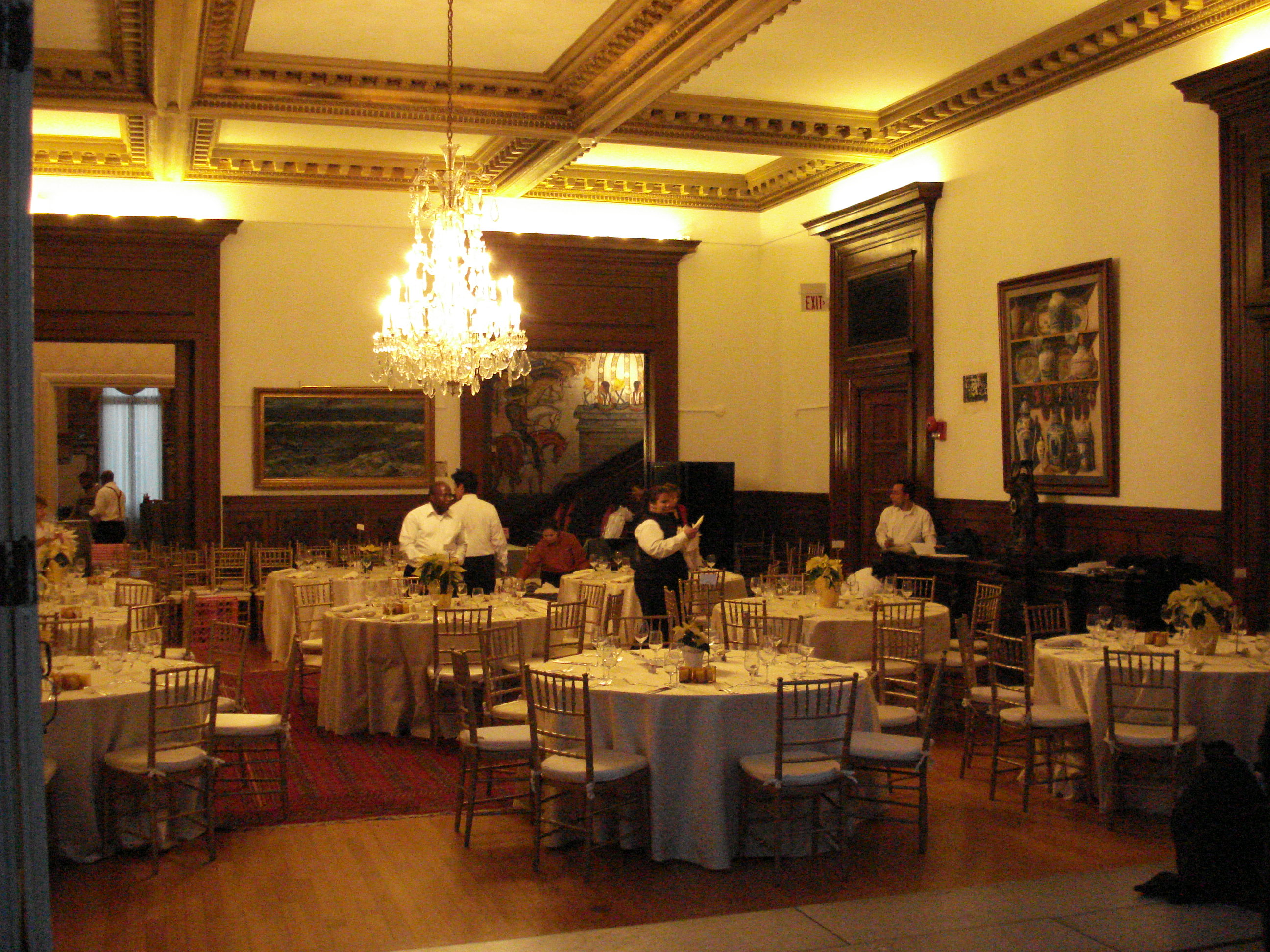 Main ballroom, looking back into the hallway.
