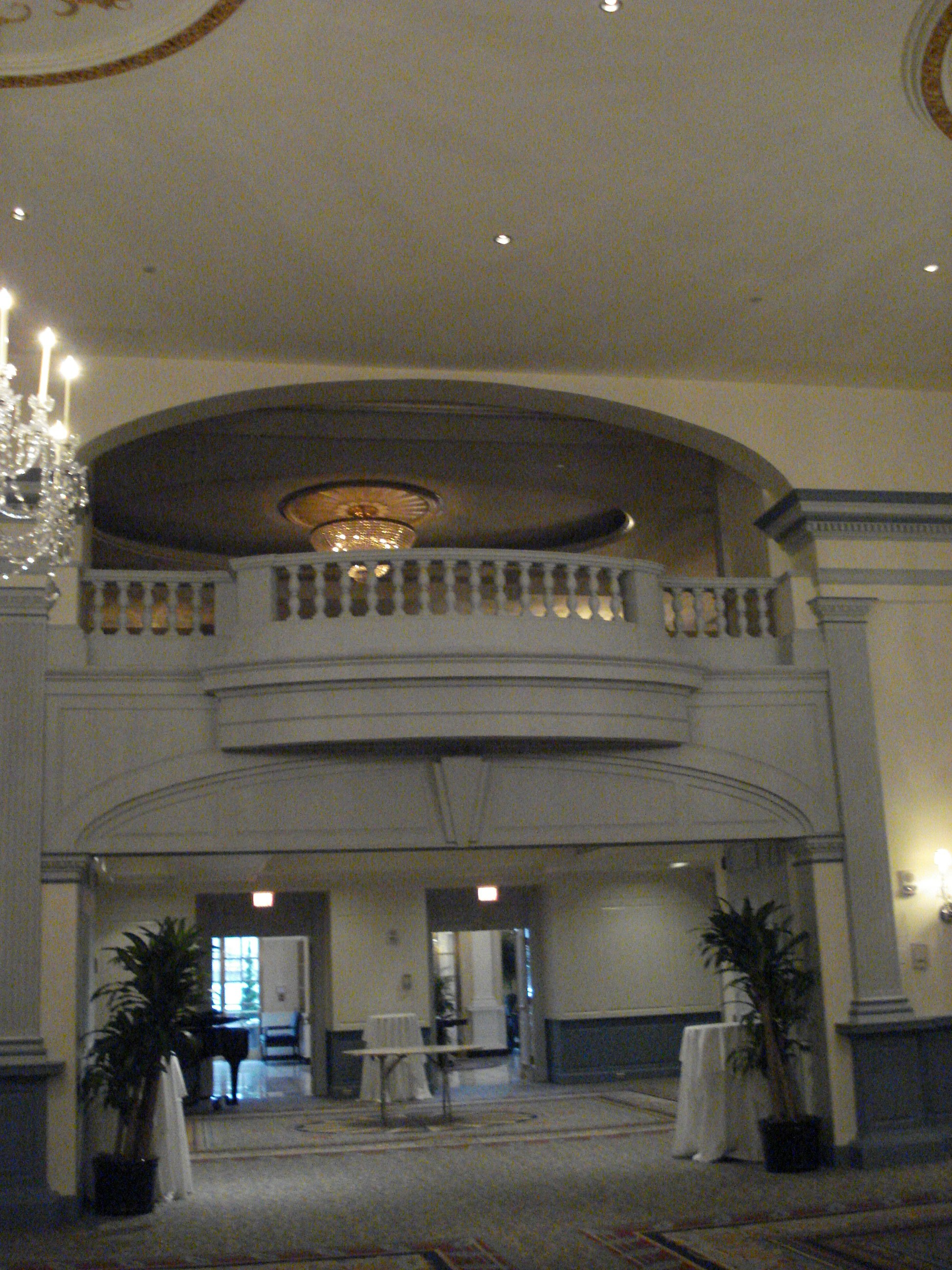 Looking the other direction into the Salon and upper balcony