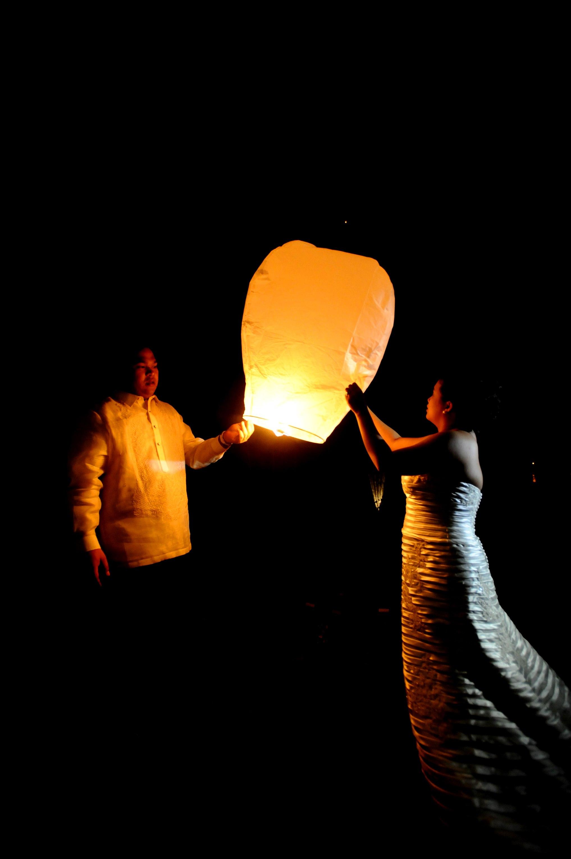 wedding sky lantern