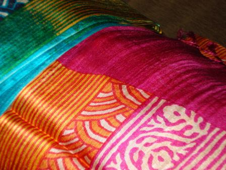 colorful silk wraps