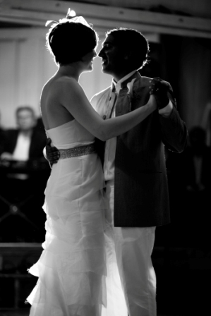 glen echo park wedding bride and groom dancing