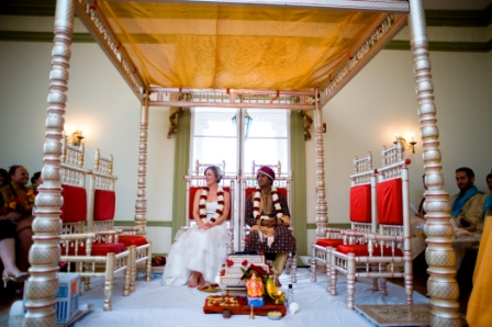 Oxon Hill Manor Hindu fusion wedding ceremony