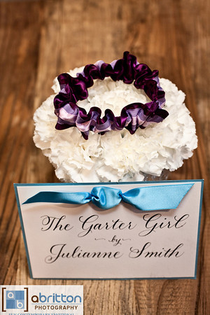 Garter Girl Julianne Smith purple garter