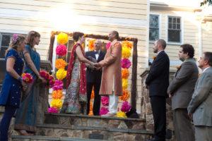 backyard wedding ceremony indian fusion