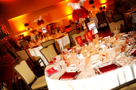 Hollywood glam wedding Holiday Inn Alexandria Ballroom