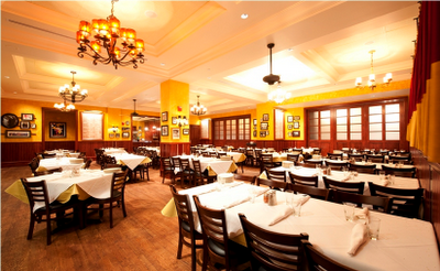 Carmines Washington DC back dining Room Private Dining Rehearsal dinner