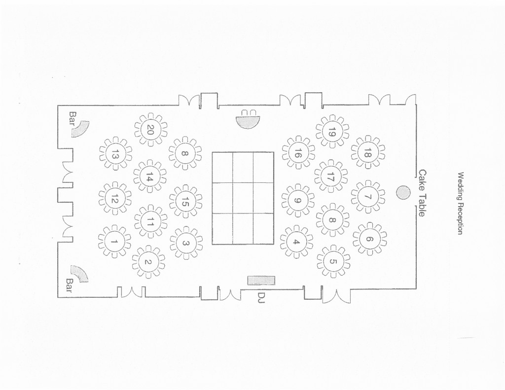 wedding floor plan sample