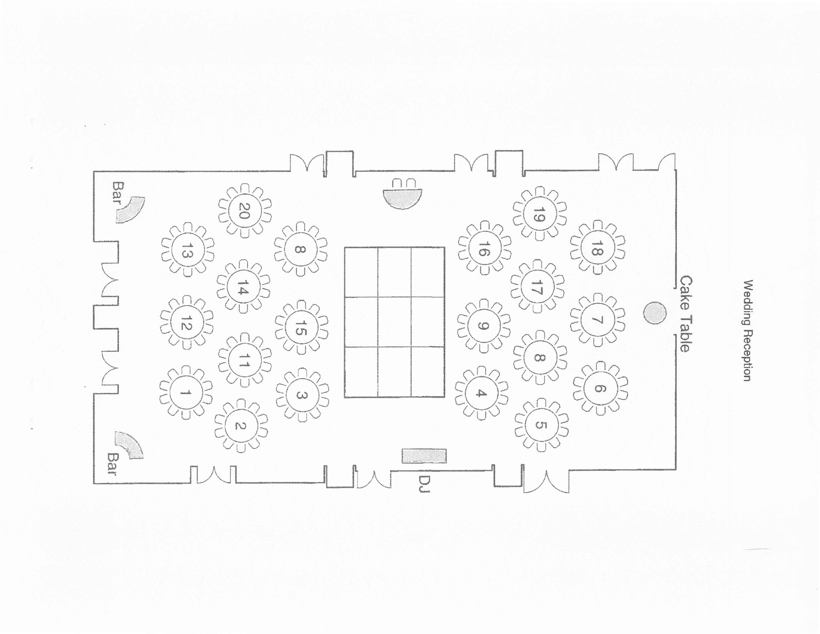 wedding floor plan template