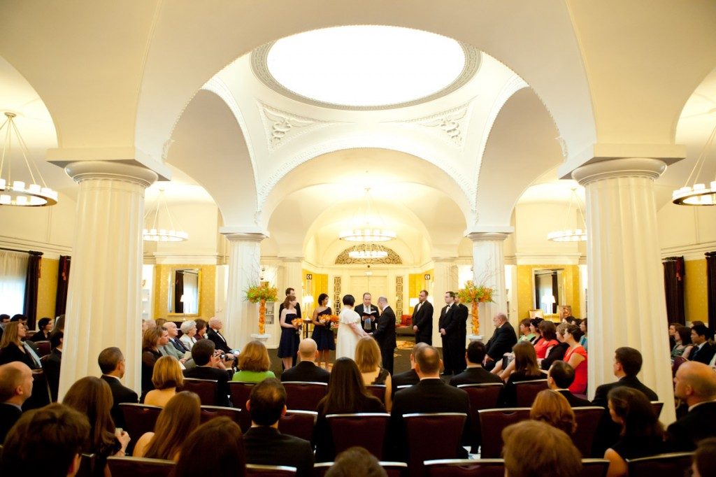 Hotel Monaco DC wedding ceremony