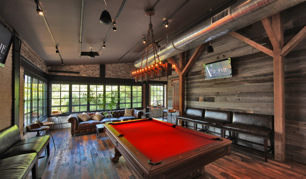 Virtue Feed & Grain Game Parlor Pool Table Old Town Alexandria Private Parties Rehearsal Dinner
