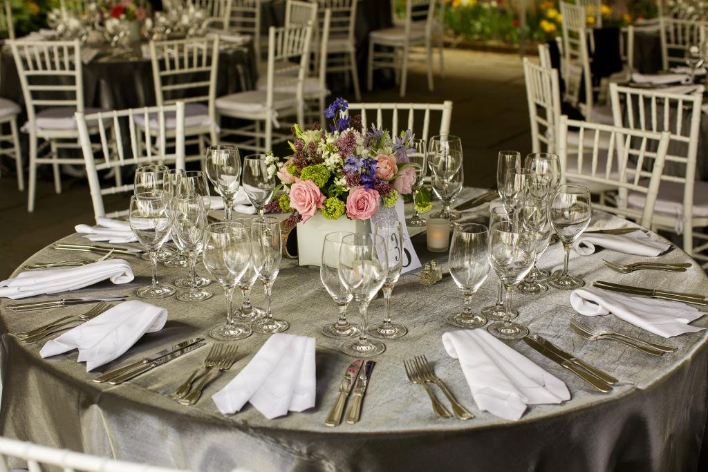 River Farm VA spring wedding botanical silver white pastels
