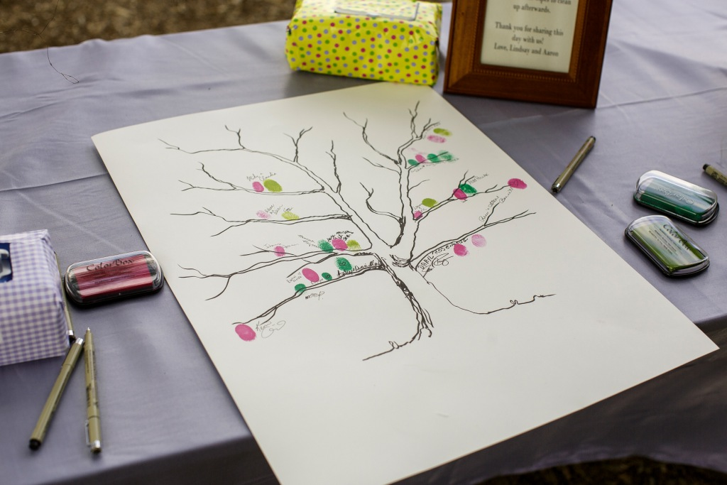 Thumbprint Guestbook River Farm VA wedding botanical