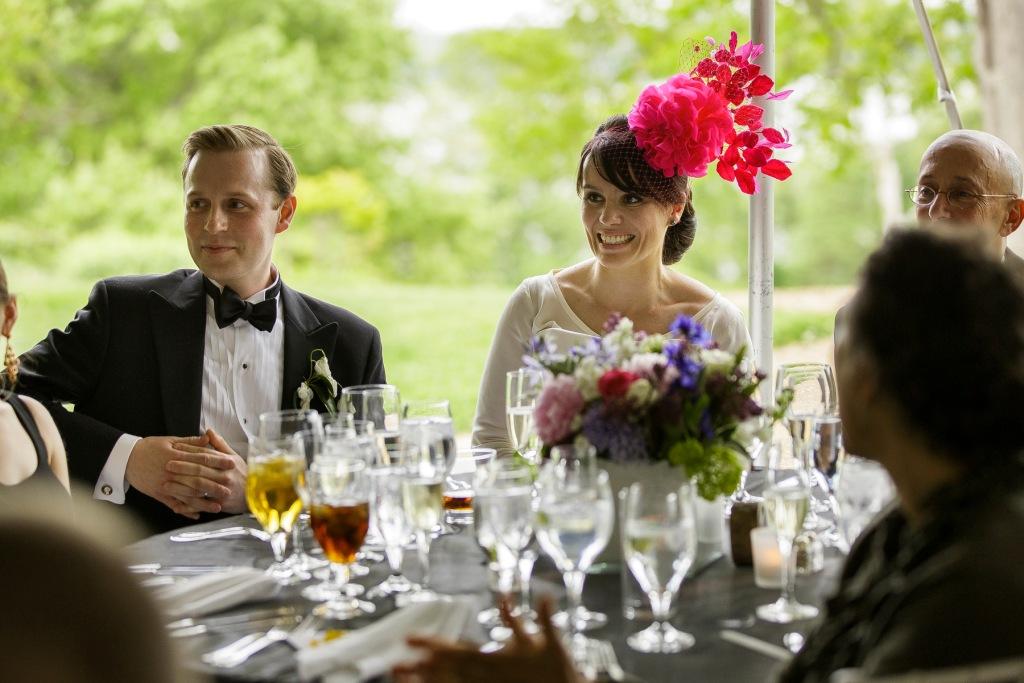 bride wedding fascinator hot pink arturo rios