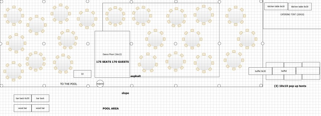 at home wedding tent floor plan