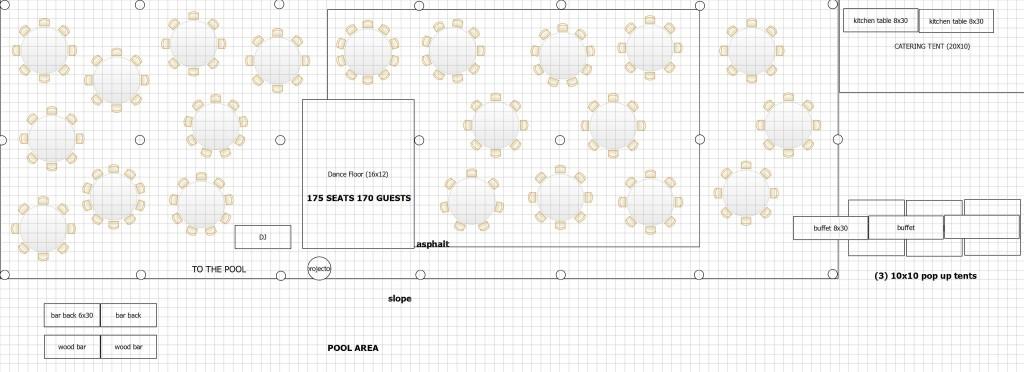 at home wedding tent floor plan