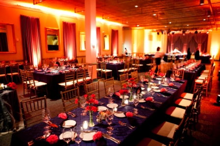 Clarendon Ballroom arlington VA wedding navy teal fuchsia