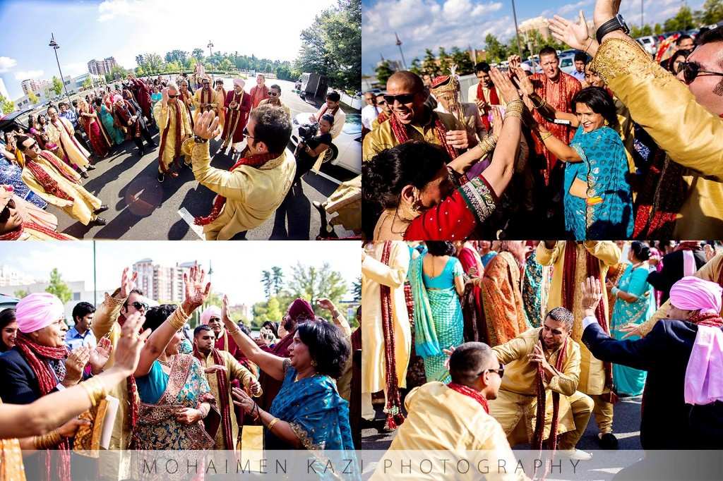 Indian-wedding-baraat-marriott-bethesda-north