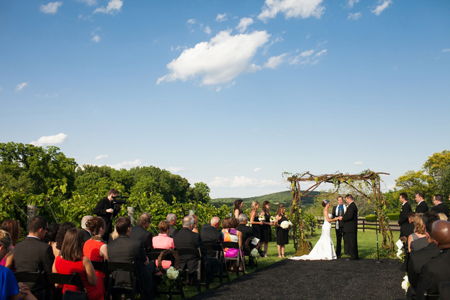 Chrysalis Winery wedding ceremony Virginia