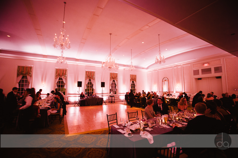 Washington Golf and Country Club Arlington wedding reception lighting