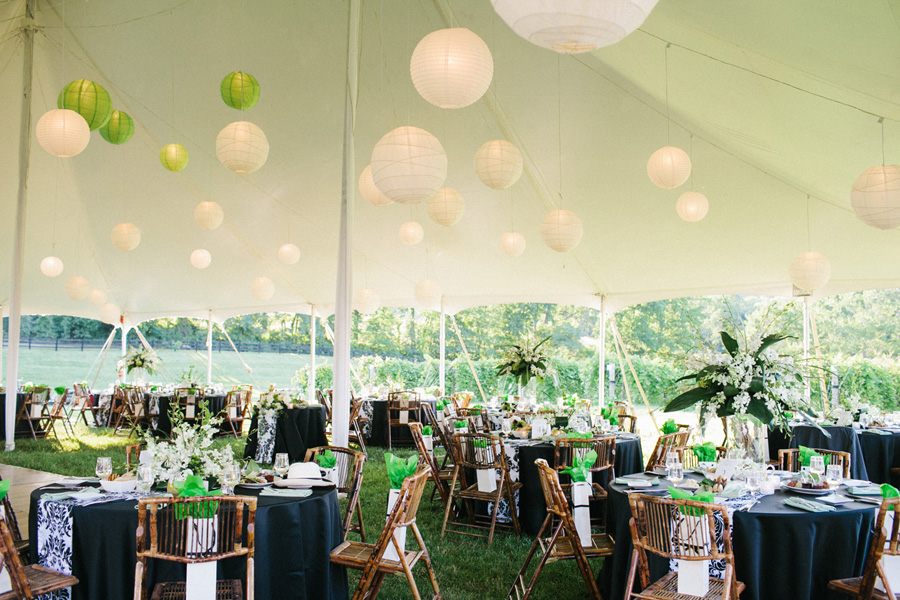 chrysalis winery wedding tent paper lanterns