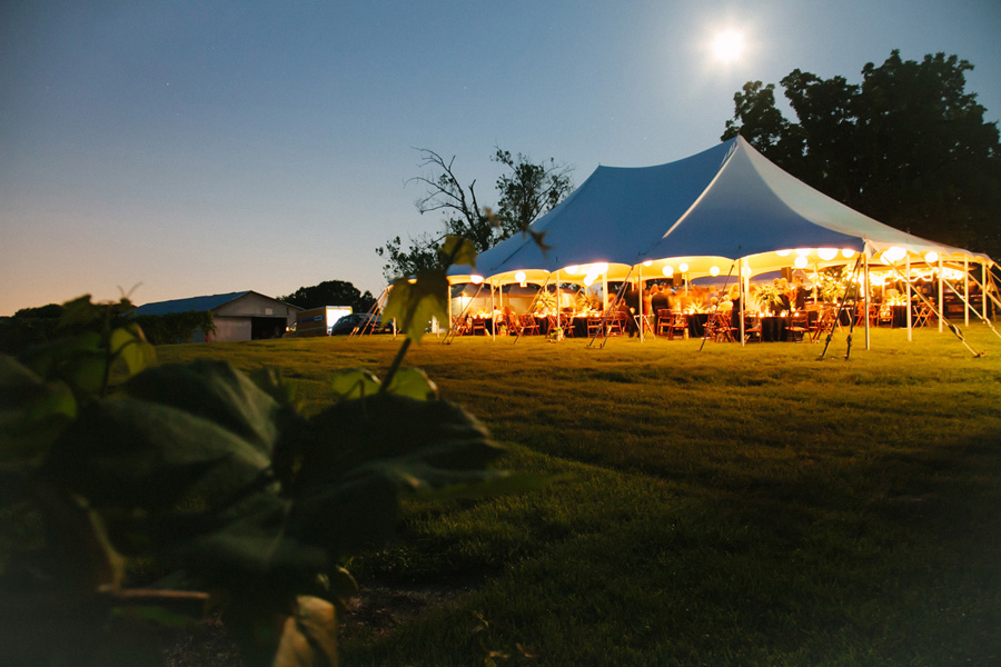 chrysalis winery wedding virgina tent night