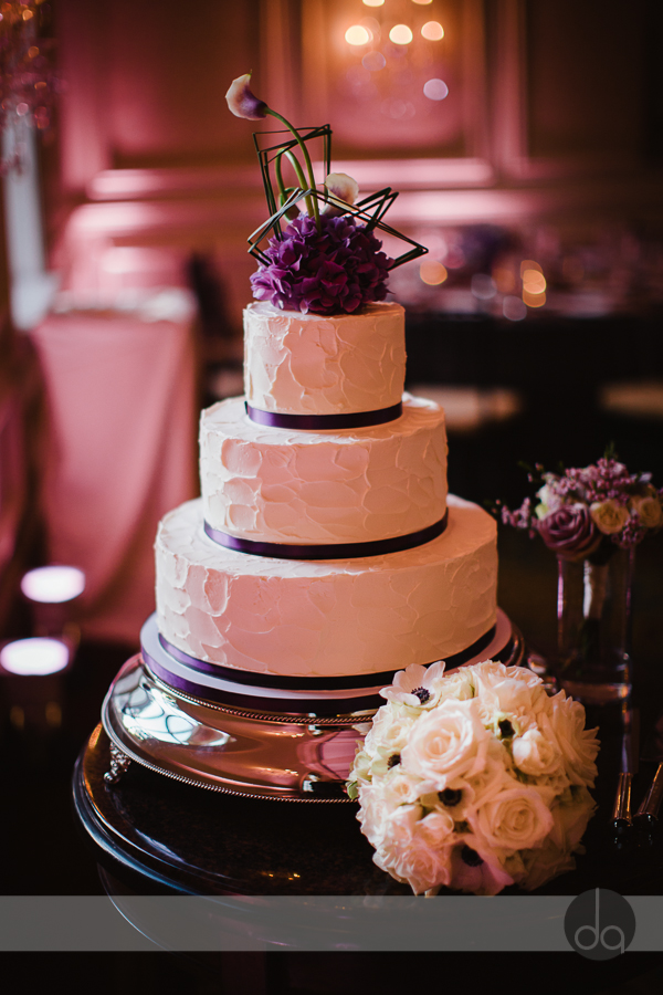 fluffy thoughts wedding cake textured buttercream purple