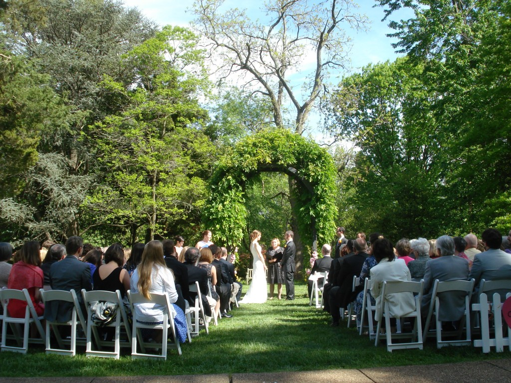 Arlington wedding ceremony Hendry House