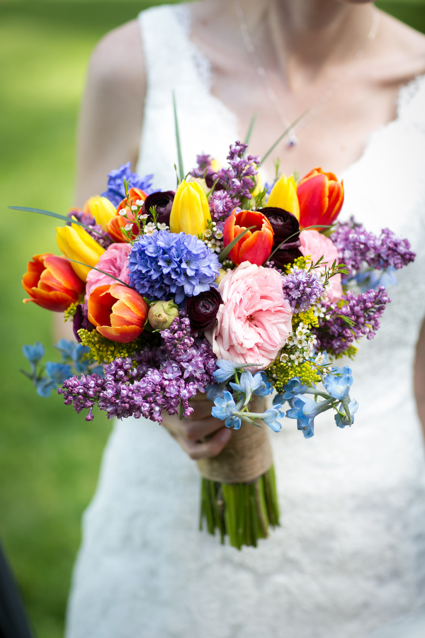 colorful bride bouquet Devers Design Group arlington