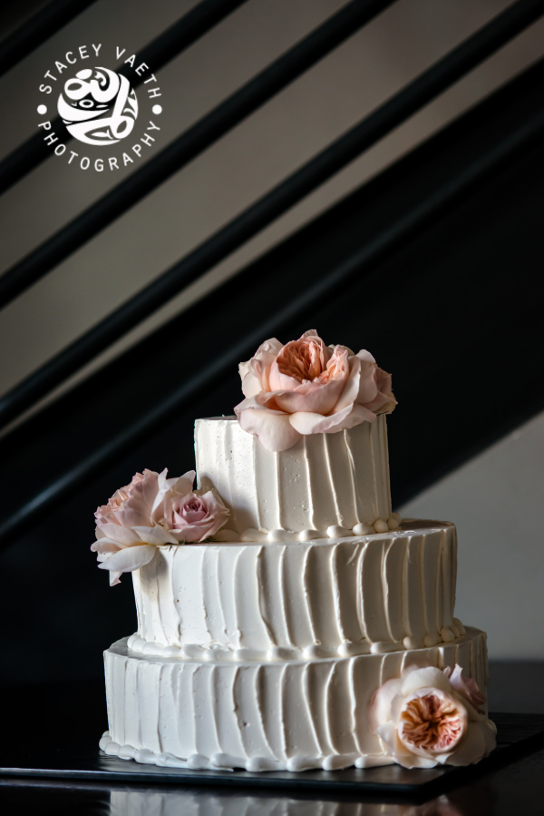 lyon hall arlington wedding cake textured buttercream