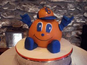 Syracuse Orange grooms cake Lulu Cake Boutique