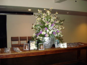 blue hill stone barns wedding escort card display