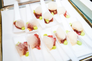 volt-restaurant-wedding-frederick-maryland-tuna-tartare-canapes