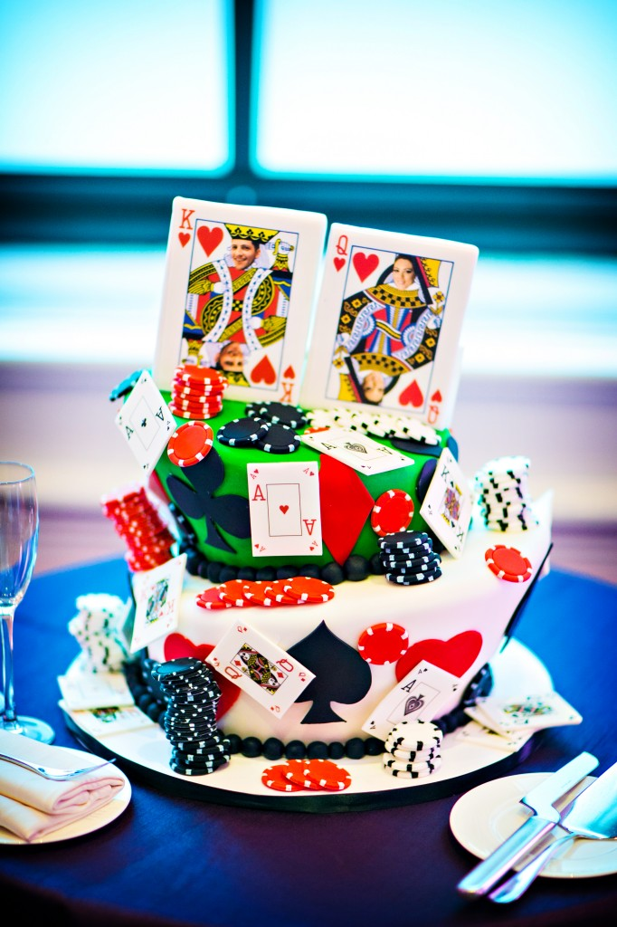 rehearsal dinner poker theme grooms cake Fluffy Thoughts