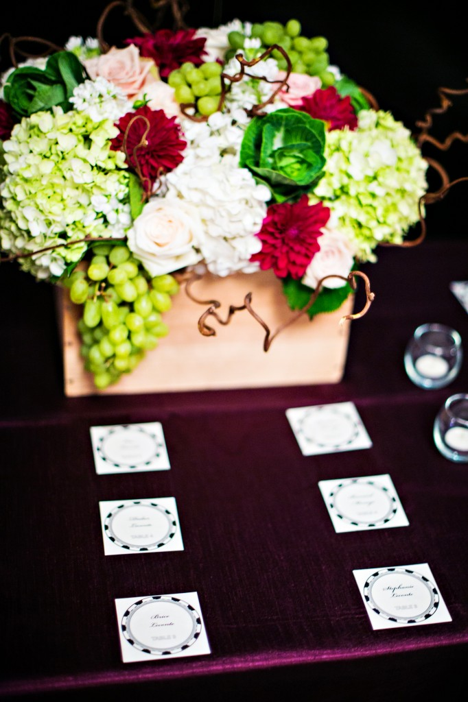 rehearsal dinner winery poker theme W Hotel DC