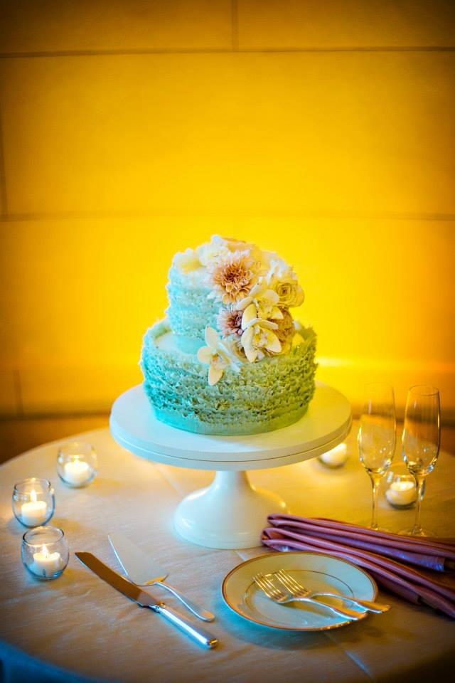 Maggie Austin Cake mint green ruffle wedding