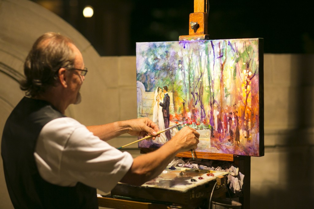 Washington DC wedding live painter Dan Nelson