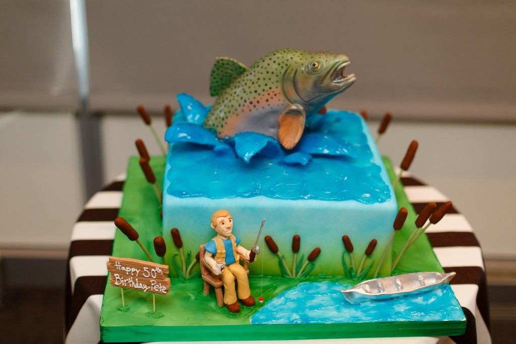 50th birthday Cake trout fishing Fluffy Thoughts