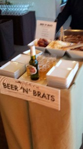 50th birthday party Newseum beer and brats cart