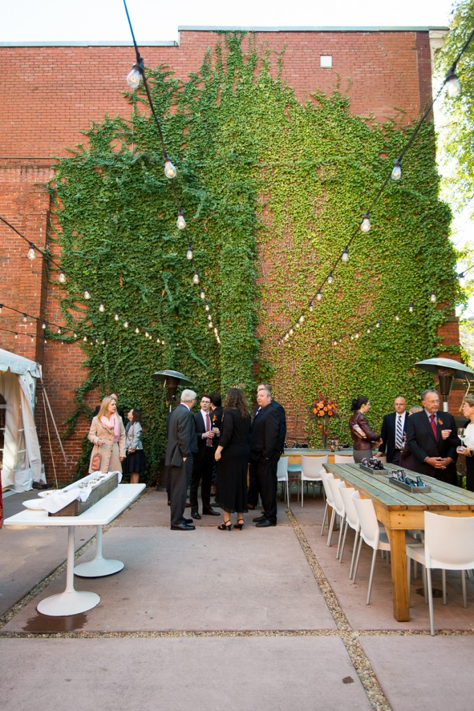 Volt Restaurant Wedding courtyard fall