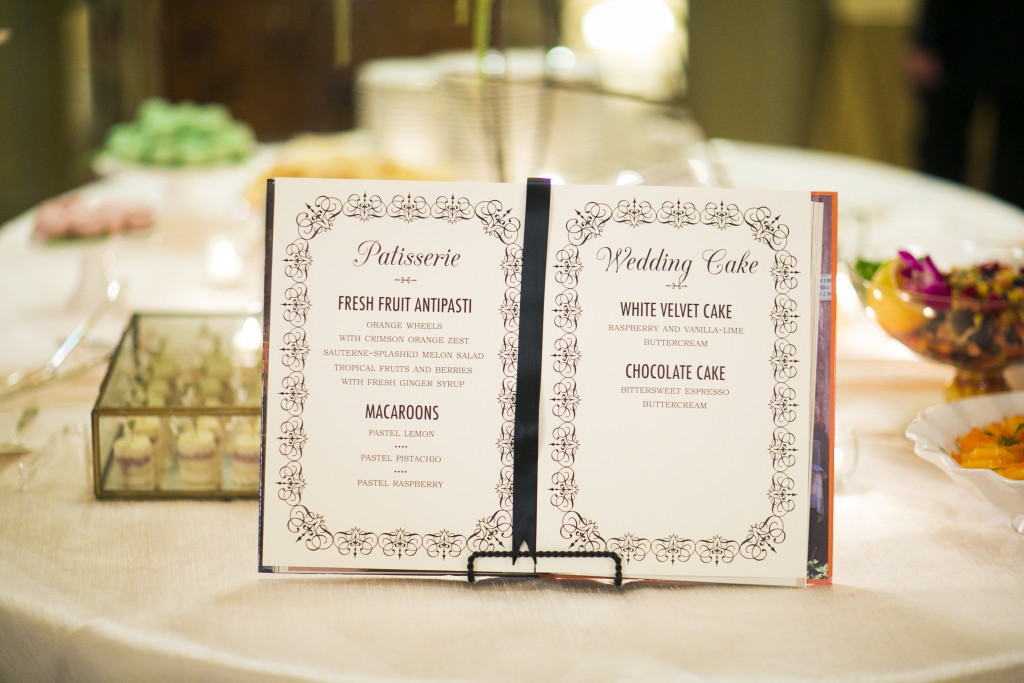 french new orleans inspired wedding dessert sign Little Bird Creative Kurstin Roe Photography