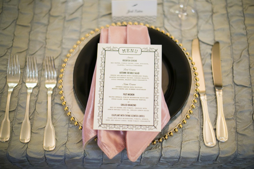 french new orleans inspired wedding menu cards Little Bird Creative Kurstin Roe Photography