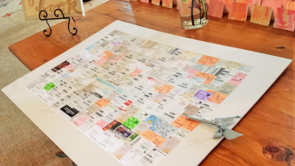 movie tickets stubs wedding guestbook