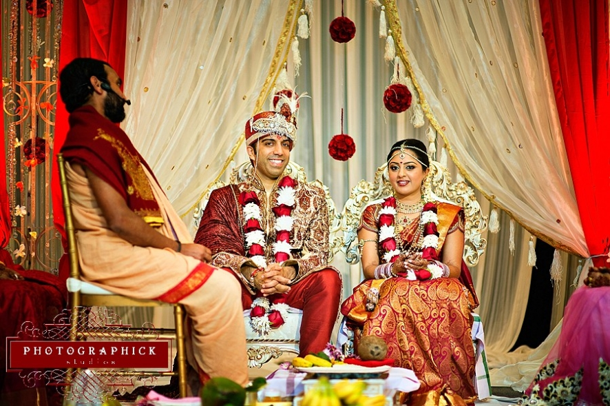 Hindu wedding ceremony westfields marriott l'ambiance mandap