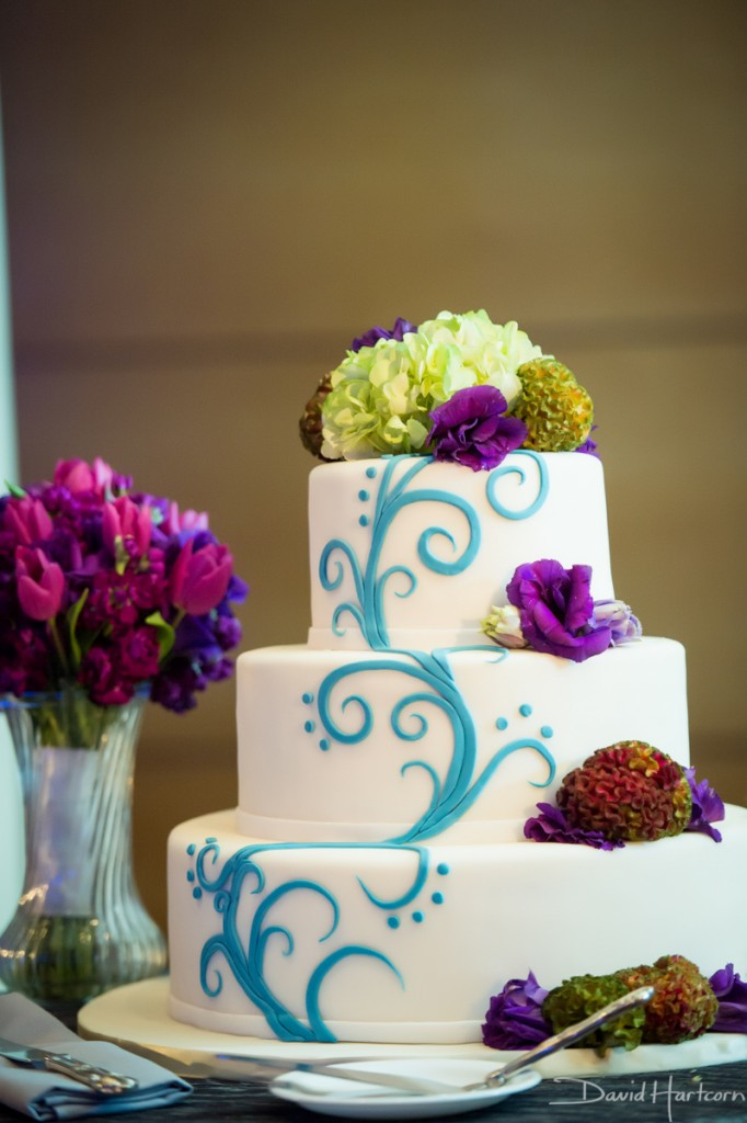 fancy cakes by leslie wedding cake blue purple green aquarium inspired