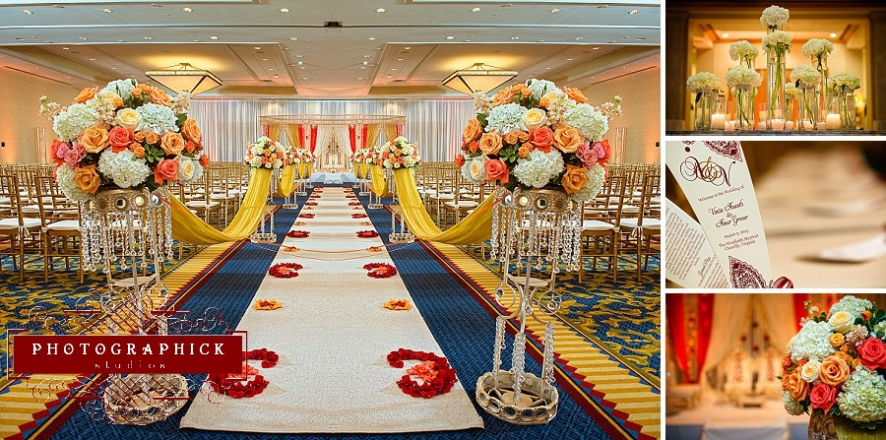 indian wedding ceremony westfields marriott l'ambiance mandap