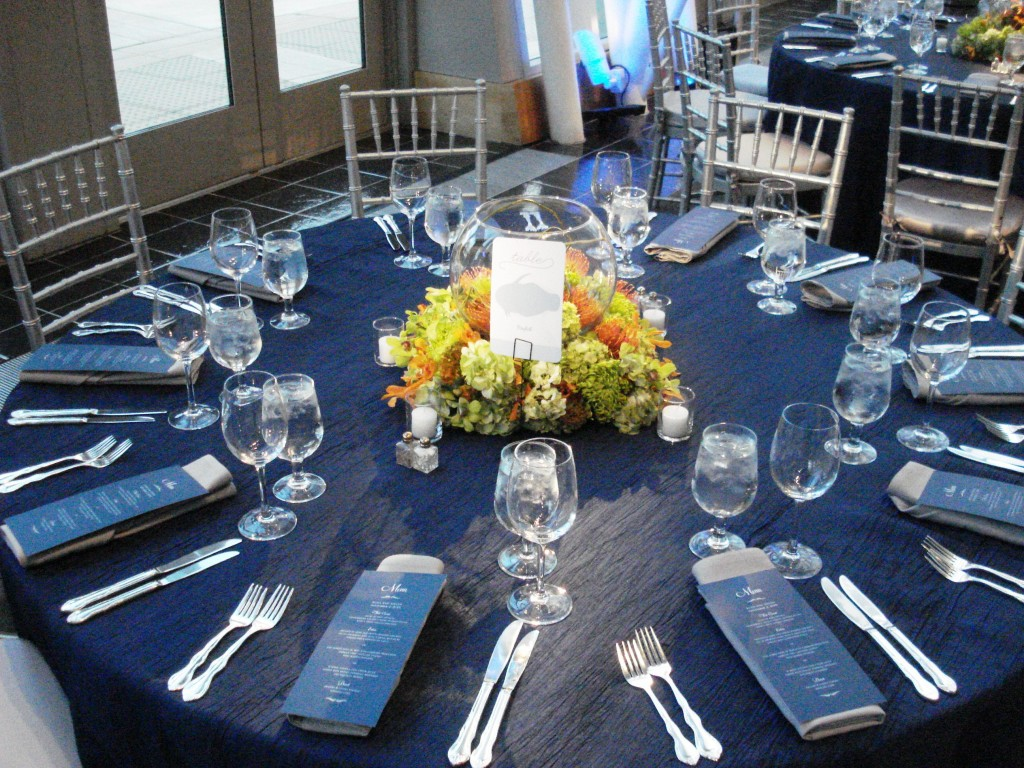 strathmore music center wedding navy blue and silver aquarium inspired