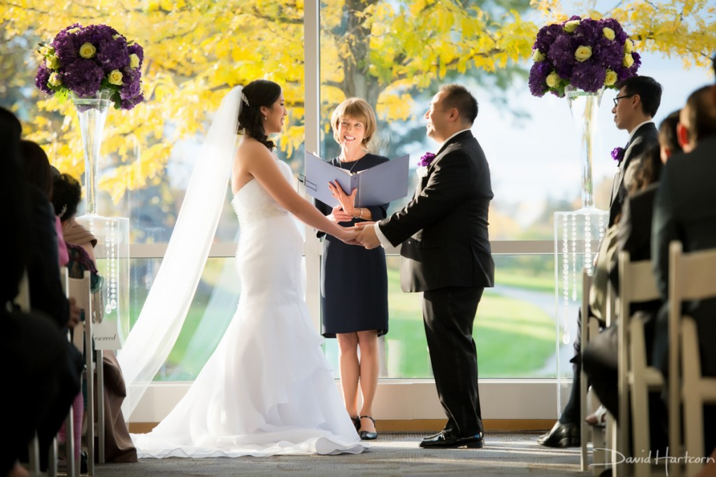 strathmore music center winter wedding ceremony indoor